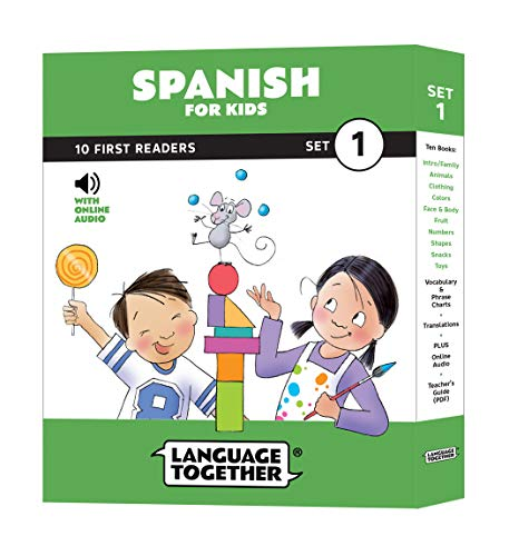 (Spanish for Kids: 10 First Reader Books with Online Audio and English (Beginning to Learn Spanish) Set 1 by Language Together)