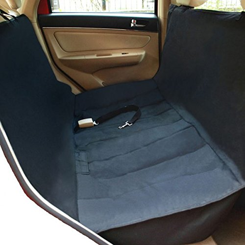 NAC&ZAC New Version Deluxe Waterproof Pet Seat Cover With Bonus Pet Car Seat Belt for Cars and SUV -Nonslip - Quilted - Extra Side Flaps - Machine Washable Pet Hammock Car Seat Cover