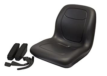 Negro respaldo alto asiento w/reposabrazos FORD New Holland ...