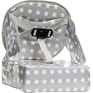 Baby-To-Love Easy Up, Rehausseur chaise Bébé Compact et Nomade (White Stars) 12