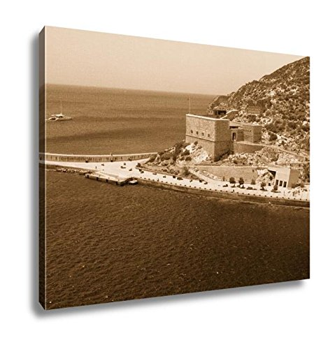 Ashley Canvas Embankment And Christmas Fort Cartagena Spain, Home Office, Ready to Hang, Sepia 20x25, AG6519130 by Ashley Canvas