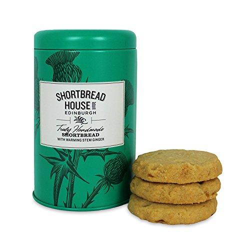 Shortbread House of Edinburgh's Stem Ginger Biscuit Tin 140g