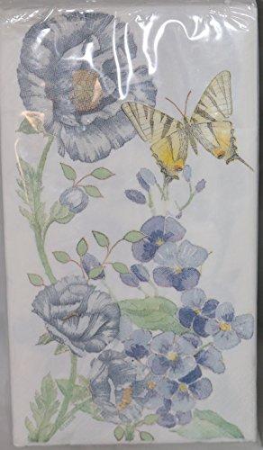Lenox Butterfly Meadow Blue 32 Guest Dinner Paper Napkins