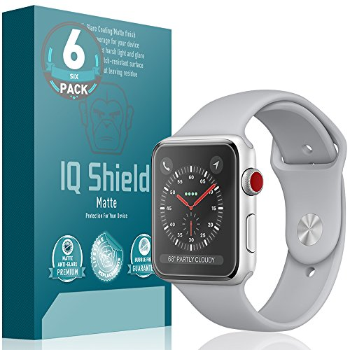 Apple Watch Screen Protector Screen Protector [Ultimate] (38mm)(Apple Watch Nike+, Series 3/2/1 Compatible)(6-Pack), IQ Shield Matte Full Coverage Anti-Glare Screen Protector Bubble-Free Film