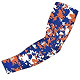 New! Royal Blue Orange White Digital Camo Arm Sleeve - Moisture Wicking Compression