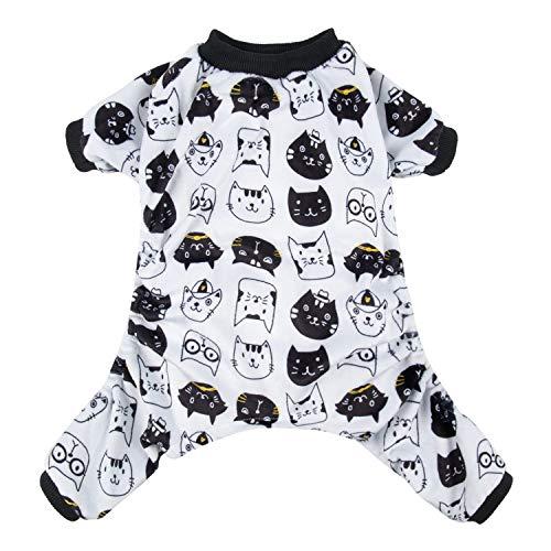 CuteBone Dog Pajamas Cat Apparel Puppy Clothes Doggie Pjs Pet Jumpsuit Birthday Gift