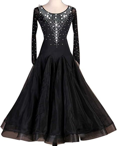 Elegante Vestido De Baile De Salón con Diamantes Imitación Perlas ...