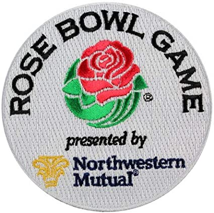 Rose Bowl Patch Stick On Patches Lot Of 10