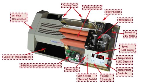 Akiles Pro-Lam Photo 13'' 6 Roller Pouch Laminator from ABC Office