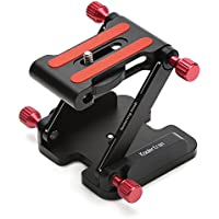 Koolertron Quick Release Plate Aluminum Folding Z Flex Tilt Head Camera Bracket Tripod Ball Head with Spirit Level Compatible Slide Rail Camera Camcorder Tripod Stabilizer (10)