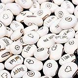 10 Pieces/1 bag Mini Magic White Bean Growing Message Words Gift Plant