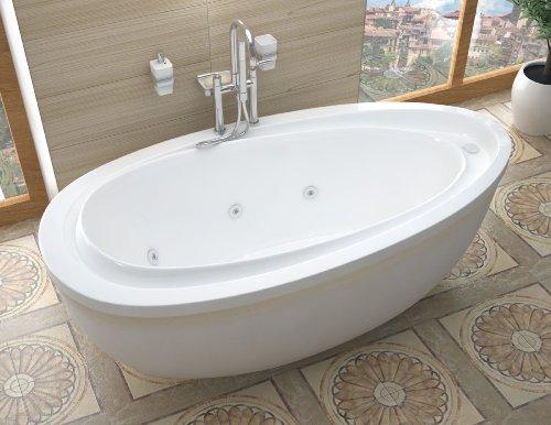 Atlantis Whirlpools 3871bw Breeze Oval Freestanding Whirlpool Bathtub 38 X 71 Left Or Right Drain Wh