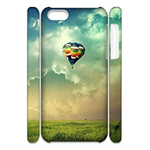 3D Dustin Balloon IPhone 5C Case Girls Protective Hot Air Balloons in the Air, Phone Case for Iphone 5c [White]