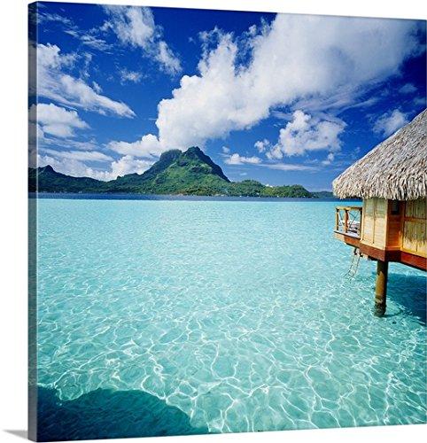 Johanna Huber Premium Thick-Wrap Canvas Wall Art Print entitled French Polynesia, Bora Bora Pearl Beach Resort and Spa by Canvas on Demand