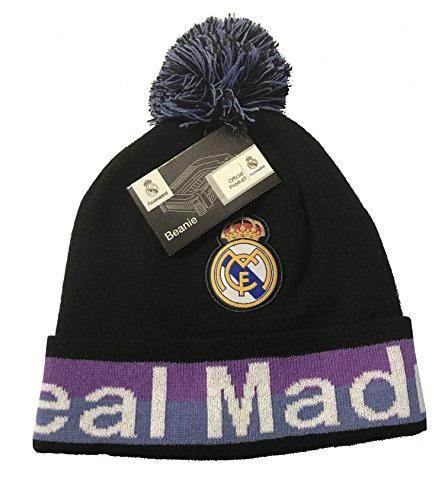 Real Madrid Beanie Pom Pom Skull Cap Hat New Season 2015 2016  Black Pom