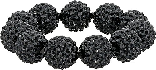 Kenneth Jay Lane Women's Black Pave Ball Stretch Bracelet Black One Size (Bracelet Lane Kenneth Black)