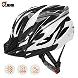 JBM Adult Cycling Bike Helmet Specialized for Men Women Safety Protection CPSC Certified (18 Colors) Black/Red/Blue/Pink/Silver Adjustable Lightweight Helmet with Reflective Stripe and Remova
