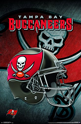 Trends International Tampa Bay Buccaneers-Helmet Premium Wall Poster, 22.375