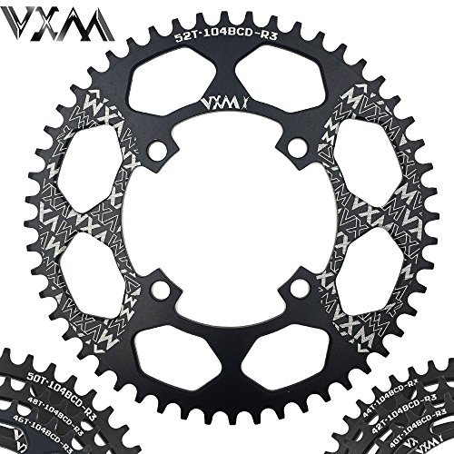 UltraZhyyne Bicycle Aluminum Chainring 104BCD 40T 42T 44T 46T 48T 50T 52T Mountain Bicycle Chainwheel Bike Crankset Bicycle Parts [ 104BCD 46T ] by UltraZhyyne