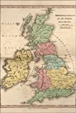 24x36 Poster; Map Of Great Britain During Roman Empire 1826; Antique Reprint