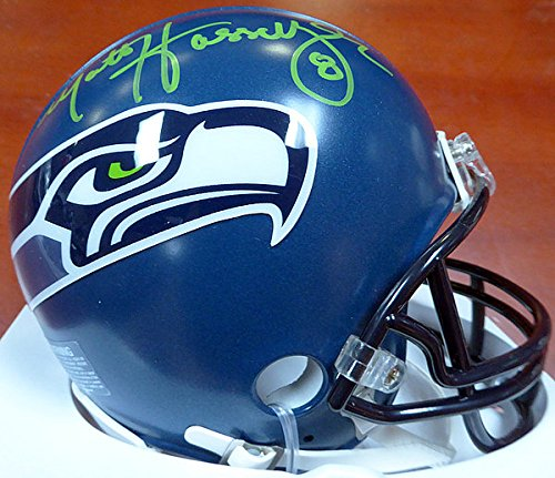 Matt Hasselbeck Signed Seattle Seahawks Mini Helmet In Green - Authentication Authentic Autograph - Football Collectible ()