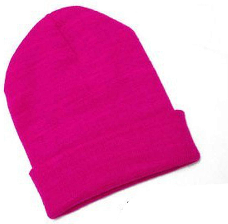 Knitted Neon Women Beanie Girls Cap Womens Warm Hats Unisex