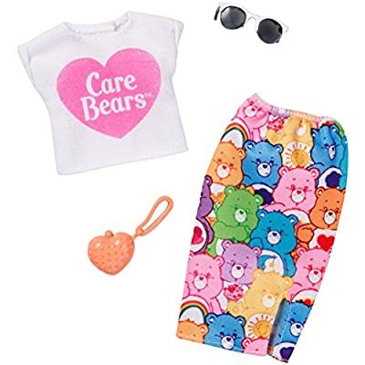 Barbie Care Bear White Top & Colorful Skirt Fashion Pack: Toys & Games