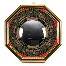 Bagua Luo board convex mirror back : Yonkami-juu specification [ golden / large size ] ¦ feng shui entrance mirror Goods