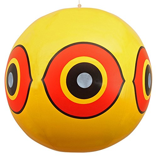 Bird Scaring Balloon - Balloon Bird Repellent - 3-Pk - Fast and Effective Solution to Pest Problems - Scary Eyes Balloons Keep Birds Away from House, Garden Crops, Swimming Pools and More to Stop Animal Mess and Damage
