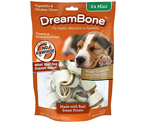 Dreambones Dreambone Sweet Potato Dog Chew (24 Piece/Pack), Mini ()