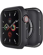 Caseology Nero hoesje Compatibel met Apple Watch 45mm Series 7/ 44mm SE, Series 6 (2020), Series 5 (2019), Series 4 (2018) - Zwart