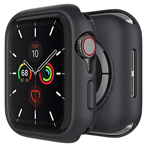 Caseology Nero Desiged for Apple Watch Case for 44mm Series 5 (2019) and Series 4 (2018) - Black