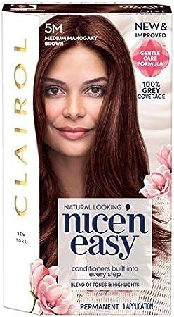 Nice N Easy tinte de pelo Medio Mahogany Brown 5M: Amazon.es ...