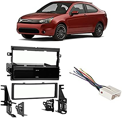 Black Metra 99-5808 Single DIN Installation Multi-Kit for Select 2004-up Ford//Mercury Vehicles