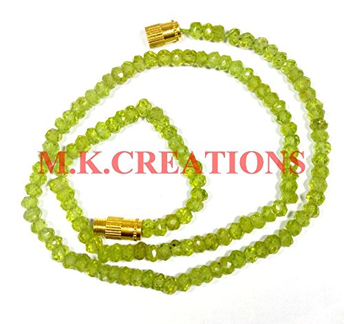 Natural peridot gemstone faceted beads 16