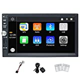 7 Inch Universal Double Din Car Stereo Win CE Operation System Touch Screen Car DVD Player support GPS Navigation Bluetooth Mirror-Link Rear View Camera AM/FM USB TF 1080P