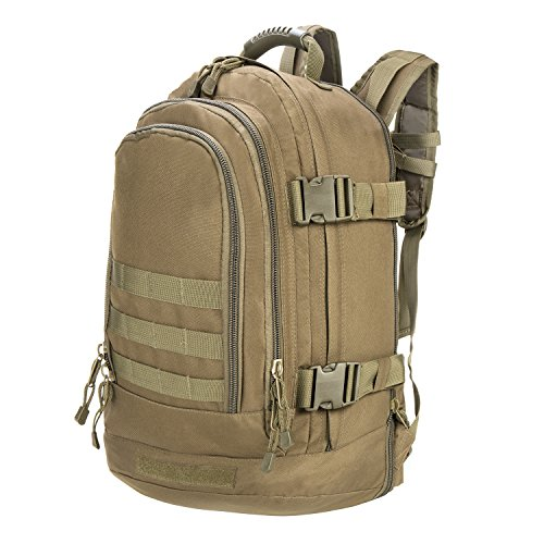 39 - 64 L Outdoor 3 Day Expandable Tactical Backpack Military Sport Camping Hiking Trekking Bag School Travel Gym Carrier (Denier Backpack 600)