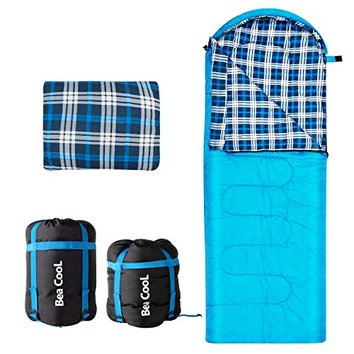 Sleeping Bag for Adults Cold Weather Backpacking 4 Season Portable Waterproof Camping Hiking Trekking Travel Outdoor - Lightweight Extra Wide Mens Women Kids - with Pillow - Great Gifts