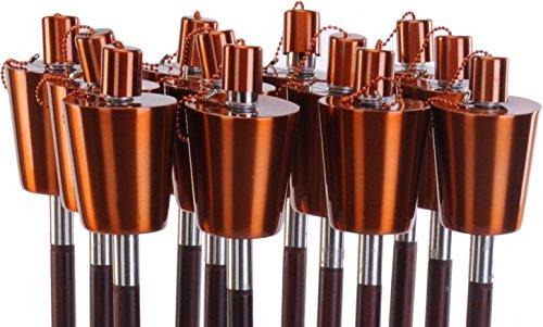 Fackel Gartenfackel Ölfackel Edelstahl Kupfer 110 cm