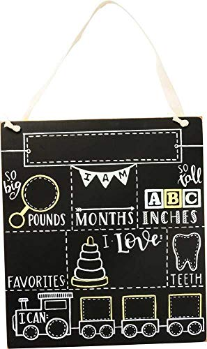 Primitives by Kathy Baby Milestone Board, So So Big; So Tall -
