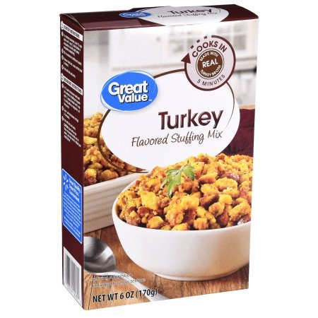 Great Value Turkey Flavored Stuffing Mix, 6 oz (Pack of 2)