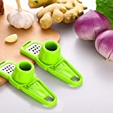 Pulison Garlic Slicer Cutter Shredder Kitchen Tool Good Grips Material PP+Stainless Steel Multi Blade Adjustable Mandoline Slicer and Vegetable Julienner (GN)
