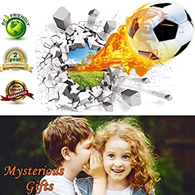 Soccer Wall Decals for Bedroom 3D Soccer Wall Stickers for Boys Rooms Soccer Wall Décor Stickers Removable Vinyl Sports Decal Wall Murals Decoration Nursery Christmas Birthday Gifts(Soccer Wall Decal): Home & Kitchen