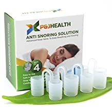 P & J Health - Anti Snoring Solution, Snore Stopper, Nasal Dilators, advanced Nose Vents To Ease Breathing and Snoring (Set of 4)