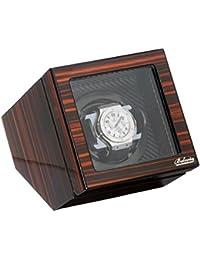 Polished Ebony Single Watch Winder W/Japanese Mabouchi Motor & Zargler Turntable.