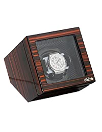 Polished Ebony Single Watch Winder W/Japanese Mabouchi Motor & Zargler Turntable.