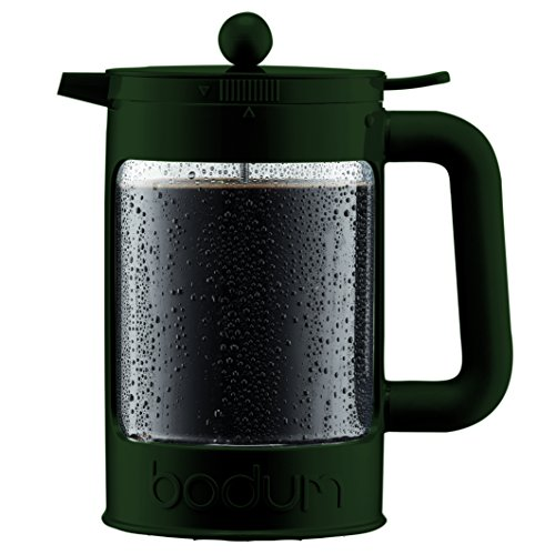 (Bodum Bean - Iced Coffee Maker Set with Locking Lid - 1.5l/51oz/12 Cup - Bottle Green)