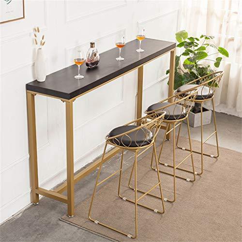 Amazon.com: Taburete de hierro dorado moderno y minimalista ...