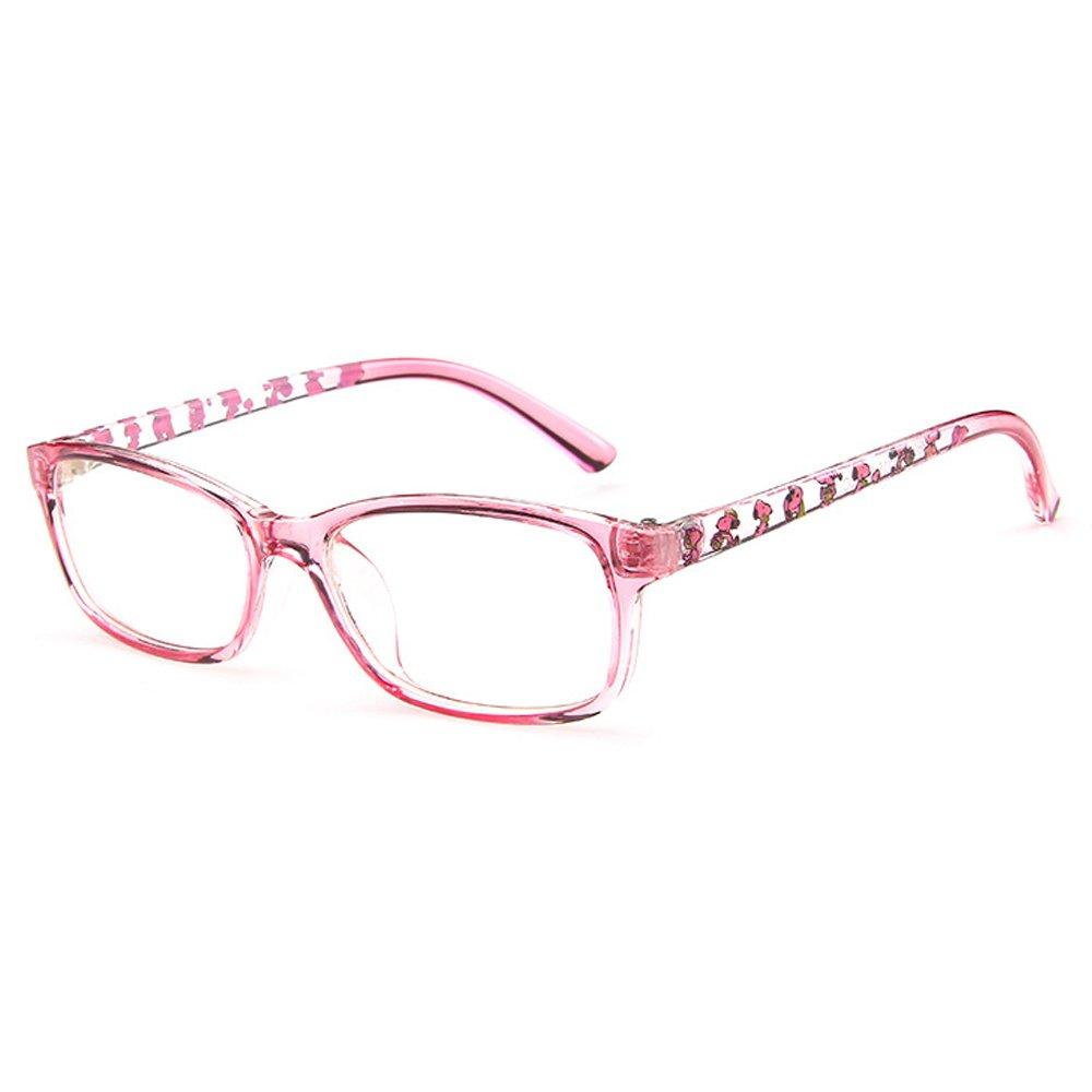 b439c19115 Galleon - Fantia Unisex Child Non-Prescription Glasses Frame Clear Lens  Kids Eyeglasses (3 -Pink)
