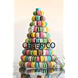 10 Tier Plastic Macaron Tower Display 10 Tier 1pc, Clear